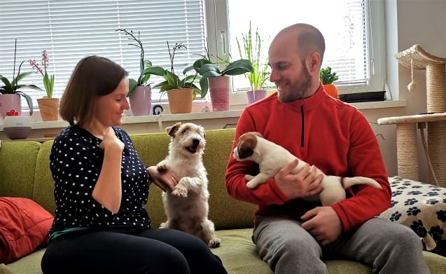 Penny is now living with her co-owners Lenna and Gašper Korenjak and her new buddy Lee.